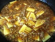 筍の中華風そぼろ煮 調理⑥