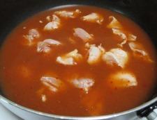 鶏もも肉のキムチスープ煮 調理③