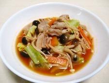 鶏もも肉のキムチスープ煮 調理⑥