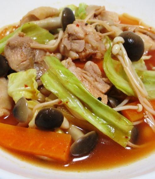 鶏もも肉のキムチスープ煮 B