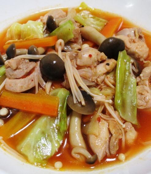 鶏もも肉のキムチスープ煮 拡大