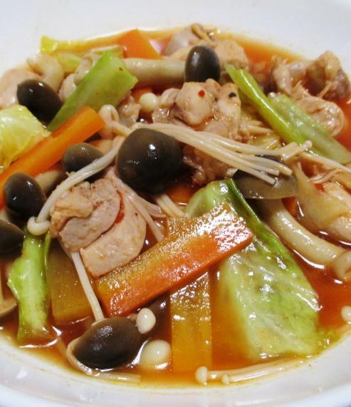 鶏もも肉のキムチスープ煮 大