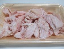 鶏皮照り焼き 材料①