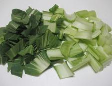 青梗菜とマロニーのスープ 調理①