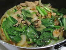 豚こまと小松菜の煮物 調理⑤