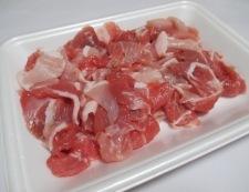 豚こまと小松菜の煮物 材料①