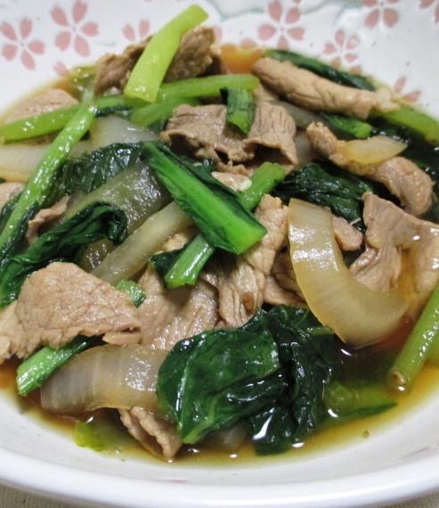 豚こまと小松菜の煮物 B