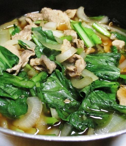 豚こまと小松菜の煮物 拡大