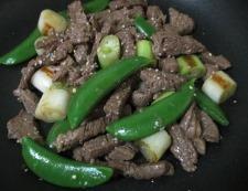 牛肉とスナップエンドウ 調理⑥