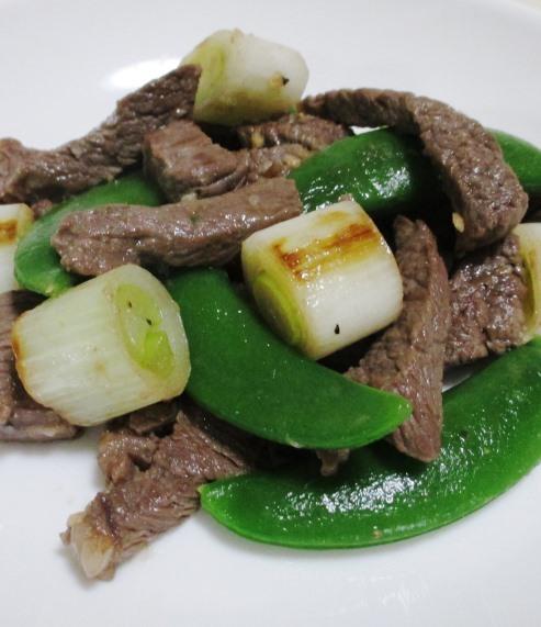 牛肉とスナップエンドウ B