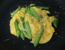 アスパラ卵 調理④