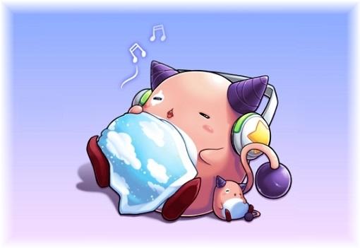 ピンクビーンお昼寝