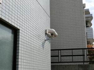 セキュリティカメラが取り付けられました