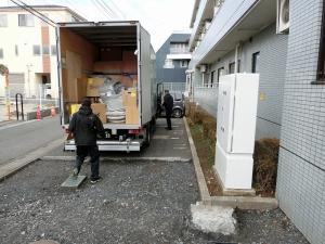 イケアさんのトラック到着!