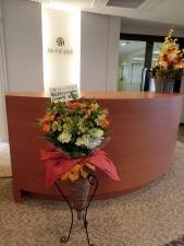 素敵な台座付お花!!