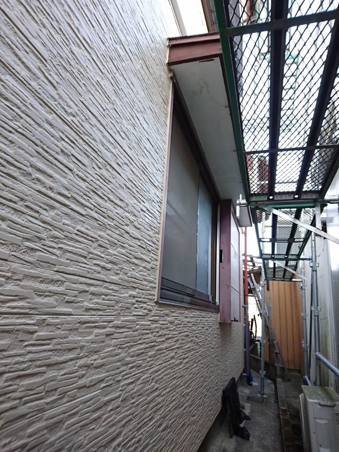 外壁 施工中1