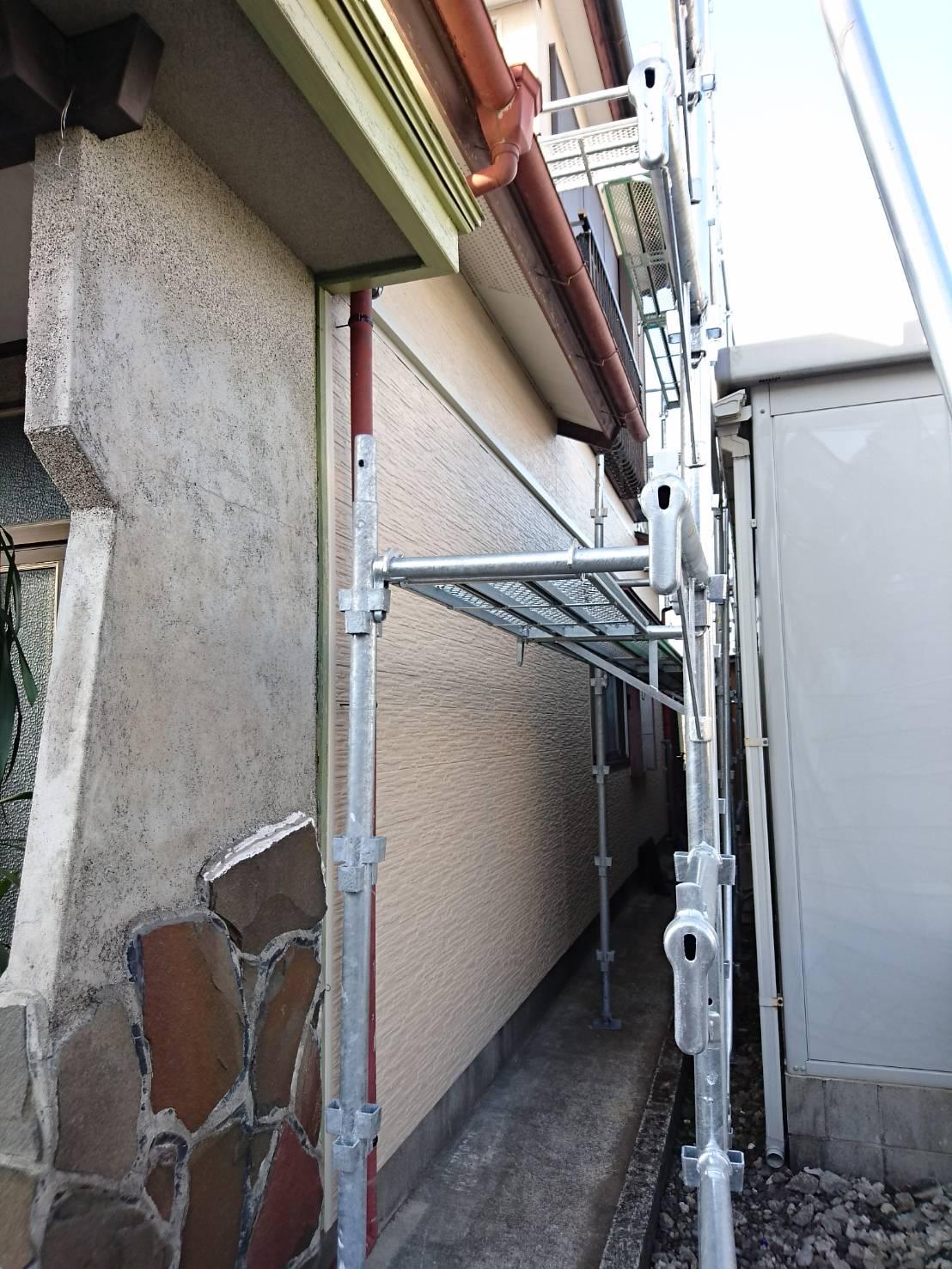外壁 施工中2