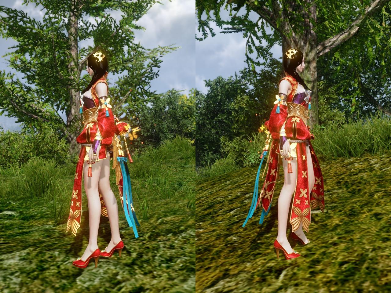 金色蝶の愛衣装 左右