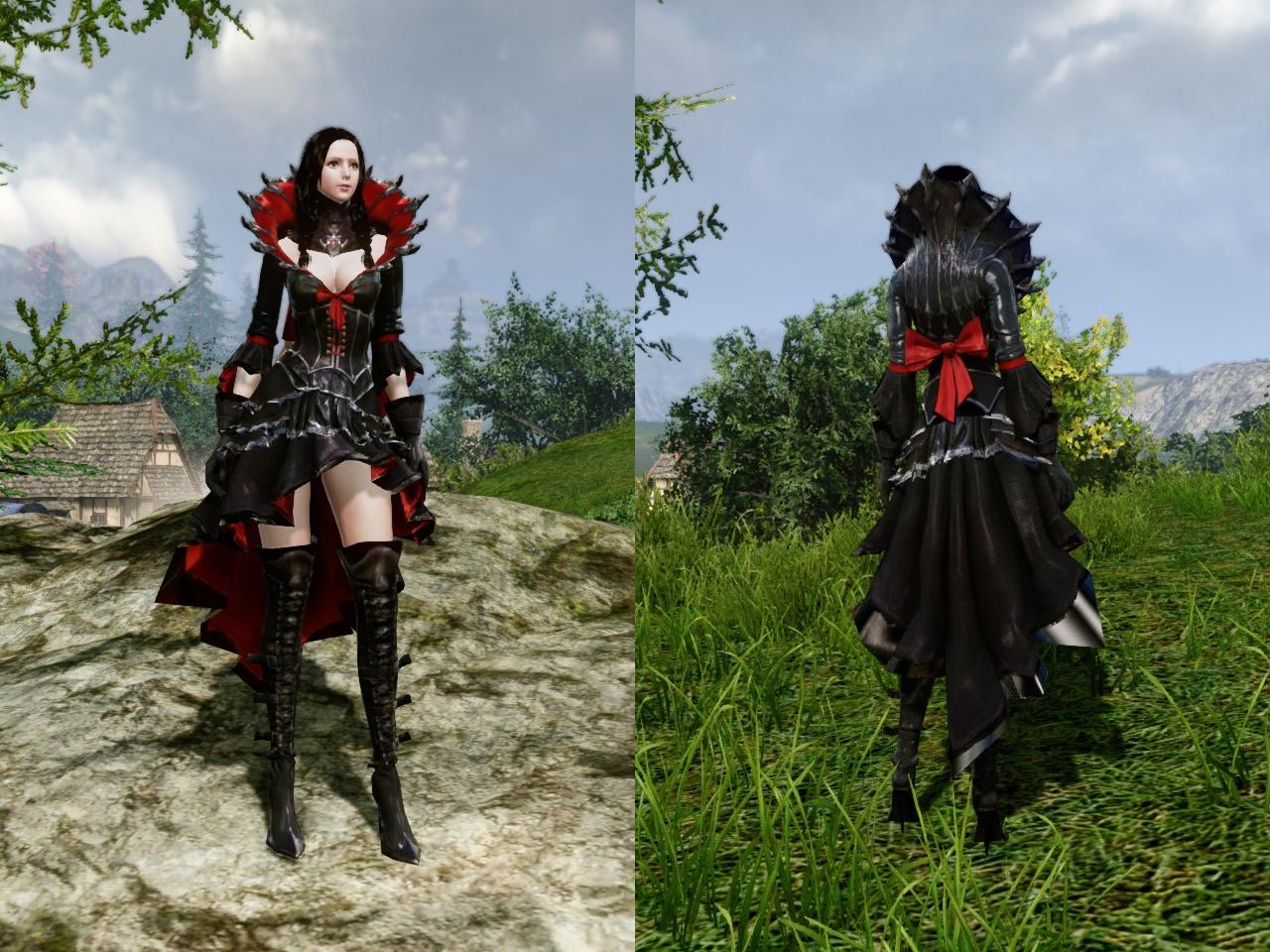 血のドレス 前・背中
