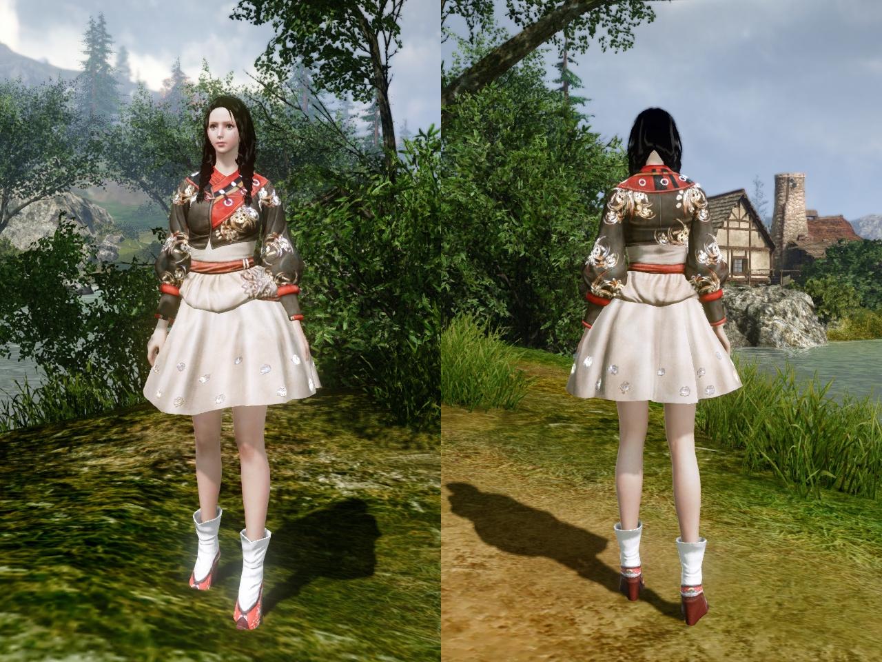 秋色のベロエ伝統衣装 前・背中