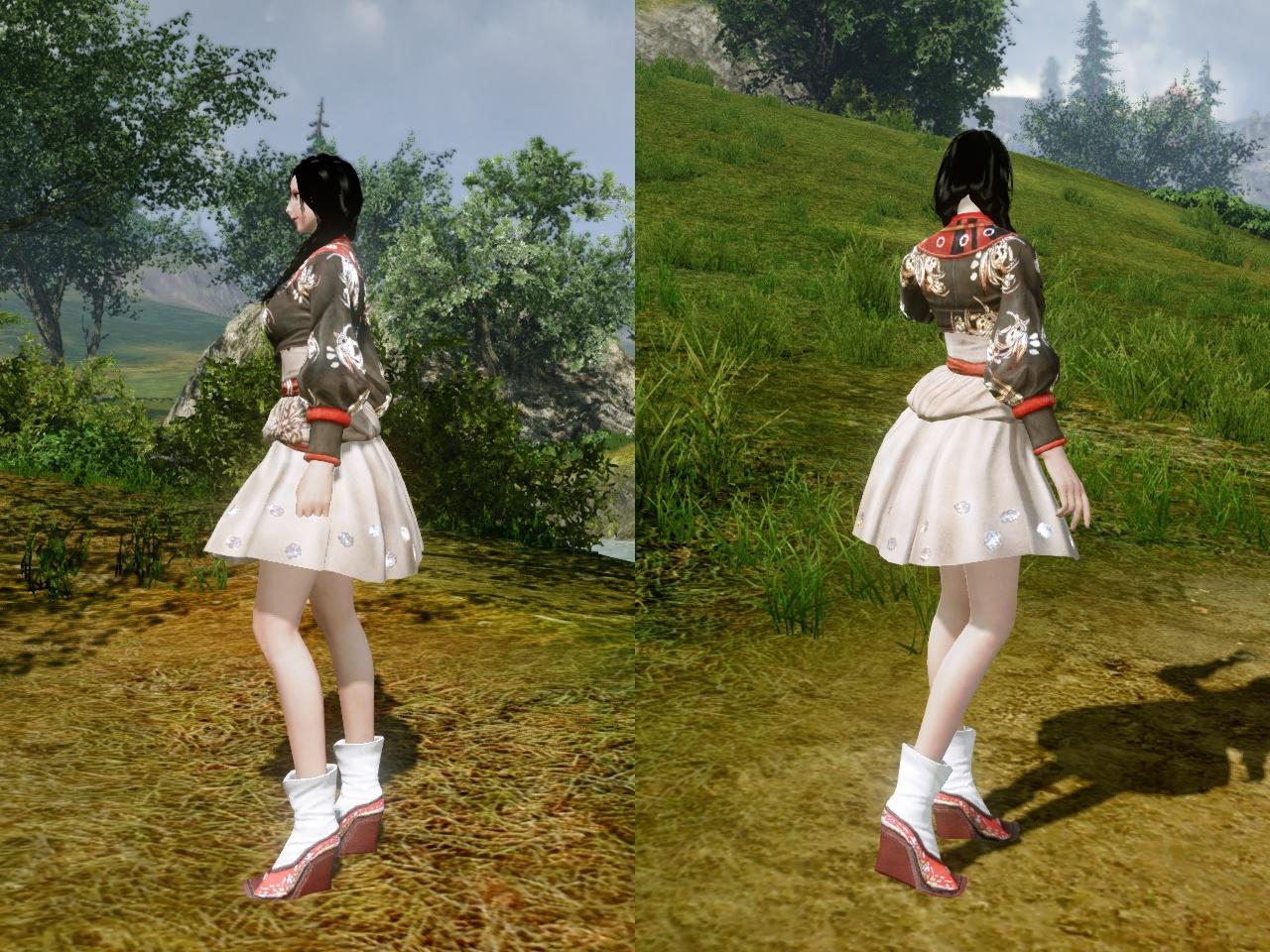 秋色のベロエ伝統衣装 左右