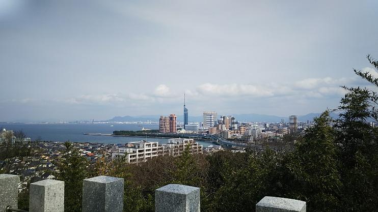 9 愛宕山から福岡タワー
