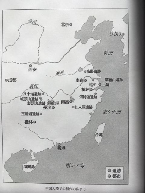 中国稲作遺跡