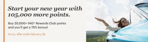 IHGリワードクラブ ポイントを購入で最大75%ボーナスポイント