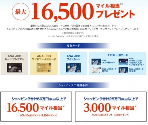絶対お得なANA JCBカード(ソラチカカード)入会キャンペーン3