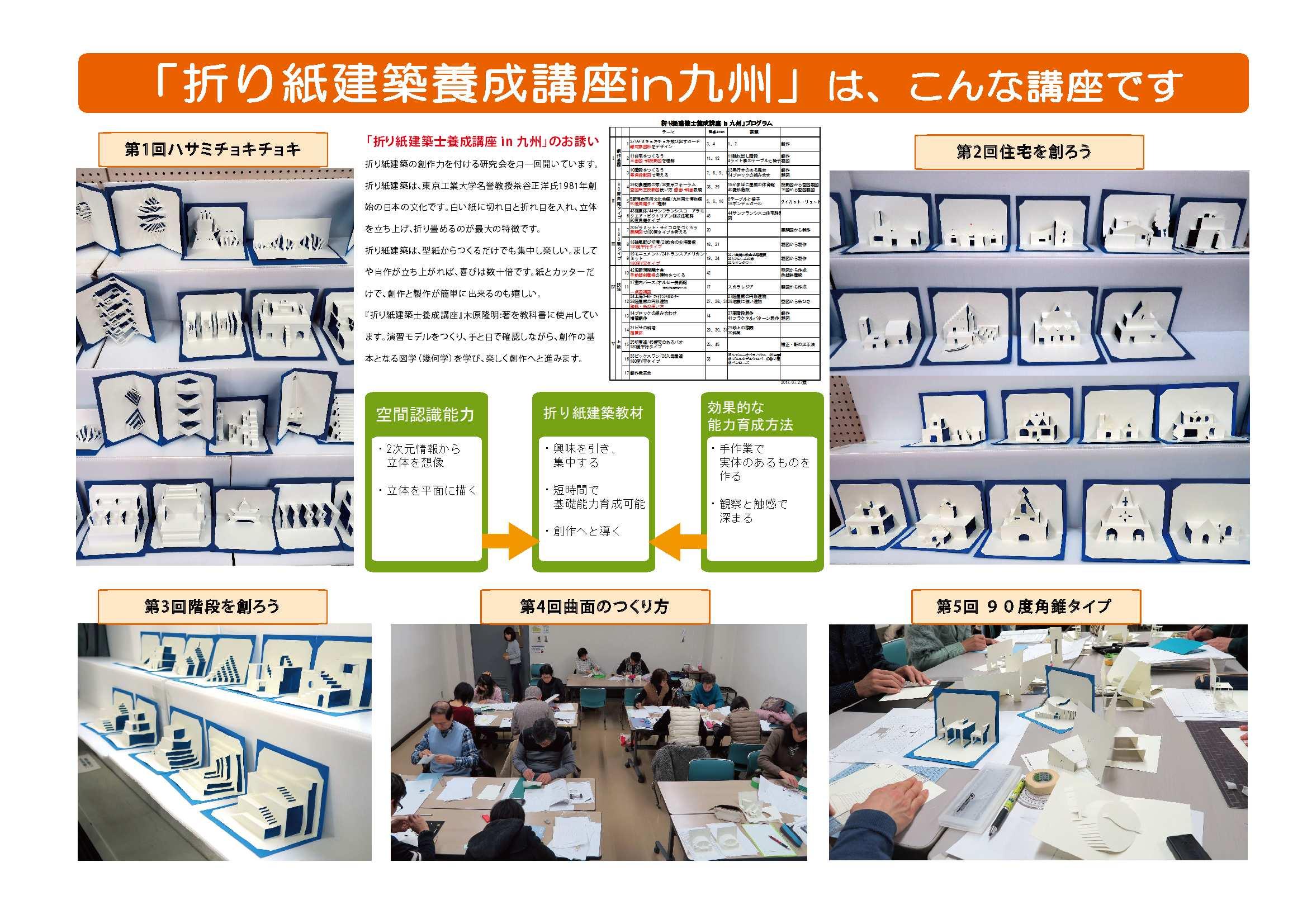 「折り紙建築士養成講座 in 九州」パネル