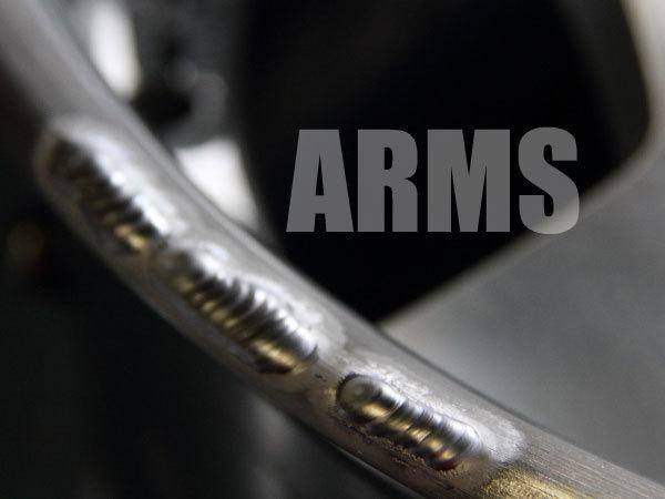 ホイールのリムをアルミ溶接にて修復