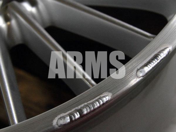 アルミ溶接でリムを修復