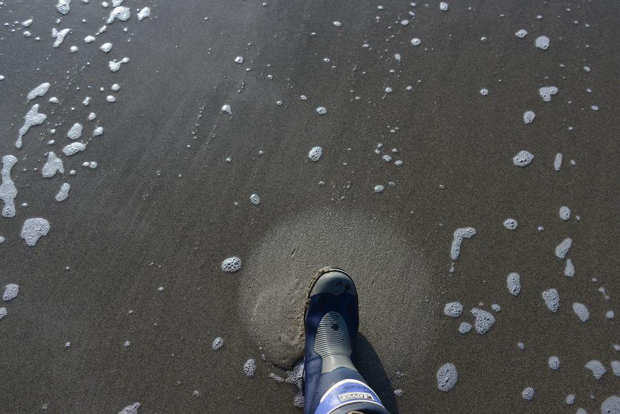 波打ち際散歩-7