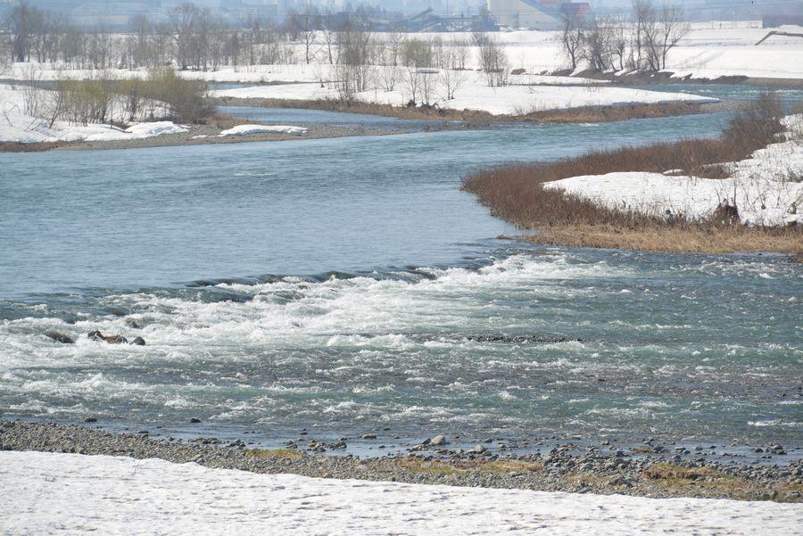 雪解け 魚野川-4