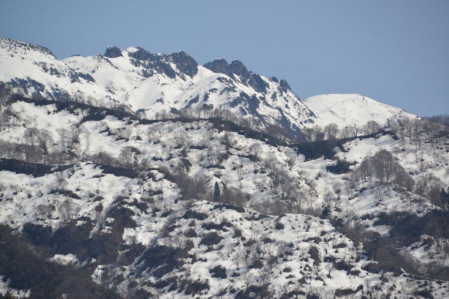 八海山麓の雪解け-1
