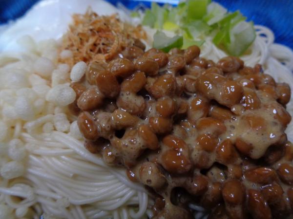 3/6 家食・納豆温玉ソーメン