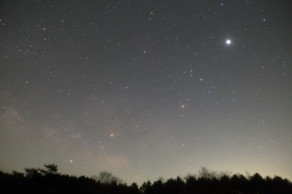 昇るさそりと三惑星_20180314