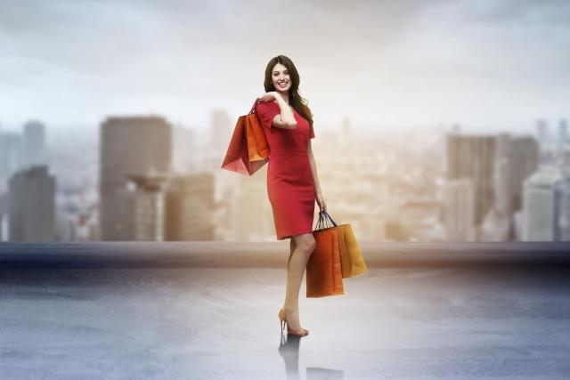 ショッピング 女性 紙袋