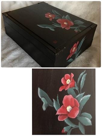 3椿の桐箱