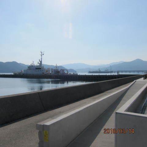 仙崎港の巡視船