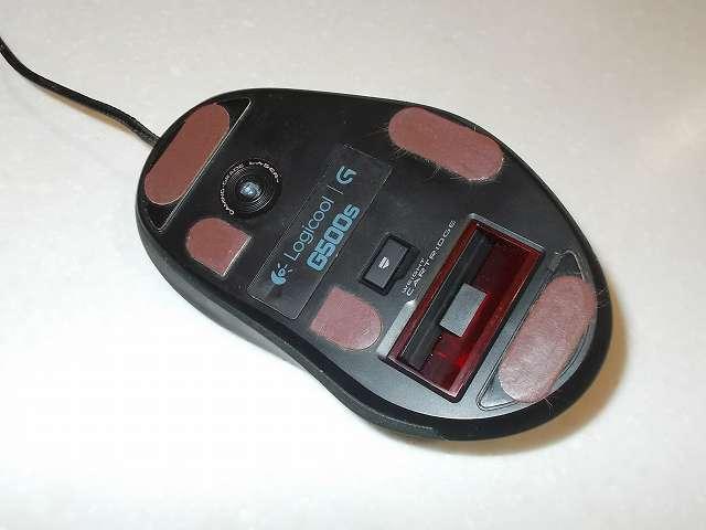 ロジクール G500s レーザーゲーミングマウス マウスソール代替品 ニチアス カグスベール トスベール貼り付け、バランスを保つため 3か所から 5か所に貼り付け