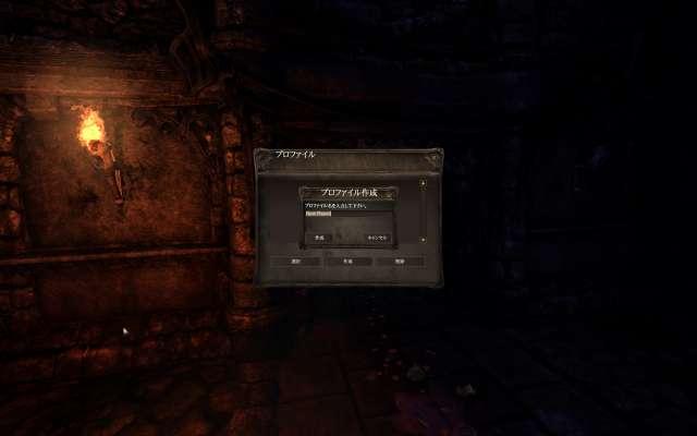 Amnesia: The Dark Descent 日本語化 Mod(Amnesia_Jpn_170426.zip)適用後 プロファイル作成