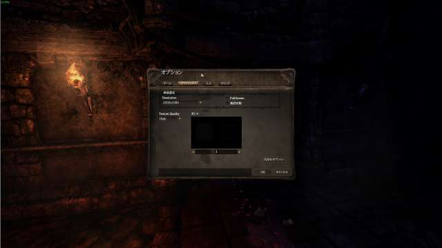 Amnesia: The Dark Descent 日本語化 Mod(Amnesia_Jpn_170426.zip)適用後 オプション - グラフィックス(基本オプション)