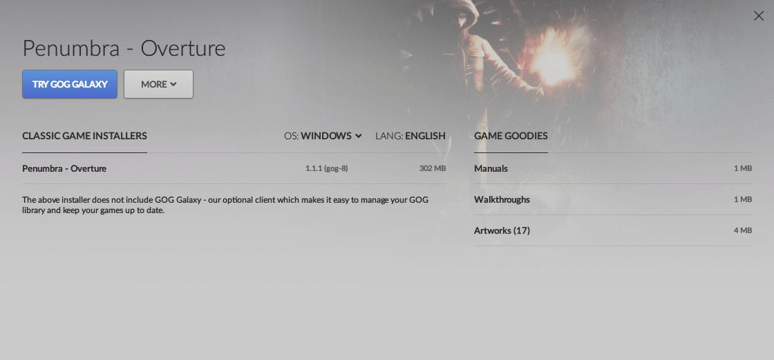 Penumbra: Overture gog.com Classic Game Installers 1.1.1(gog-8) ダウンロード