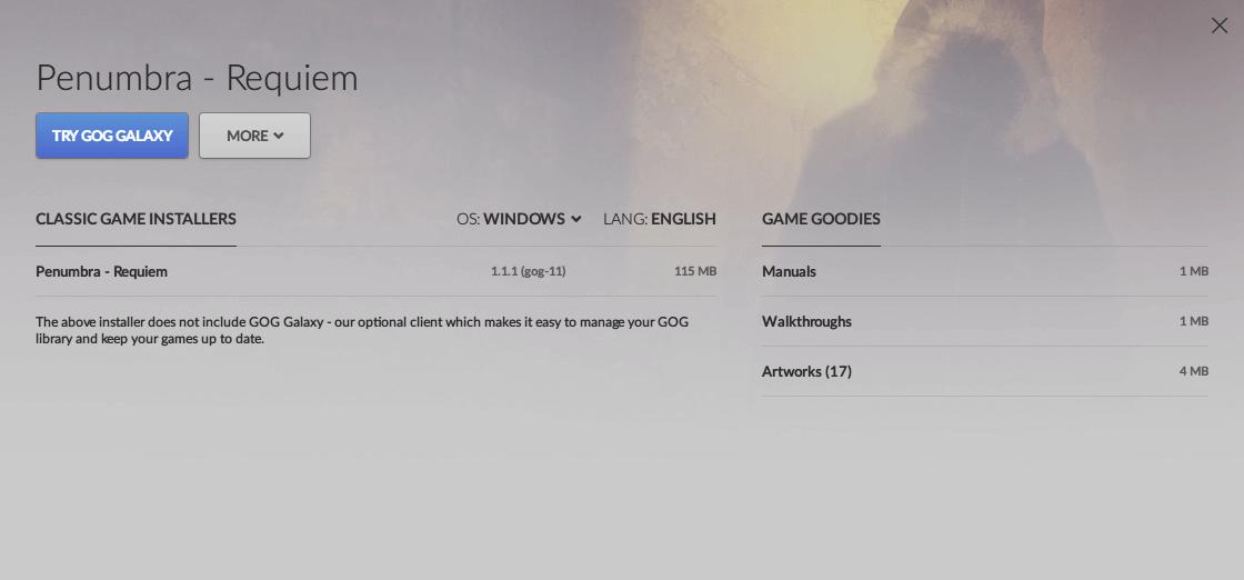Penumbra: Requiem gog.com Classic Game Installers 1.1.1(gog-11) ダウンロード