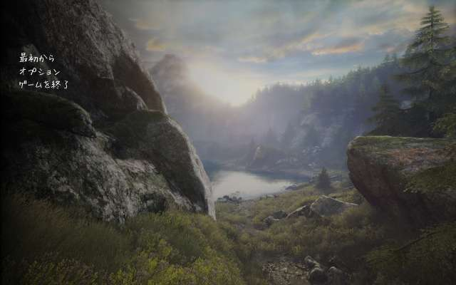 The Vanishing of Ethan Carter Redux タイトル画面(日本語化)