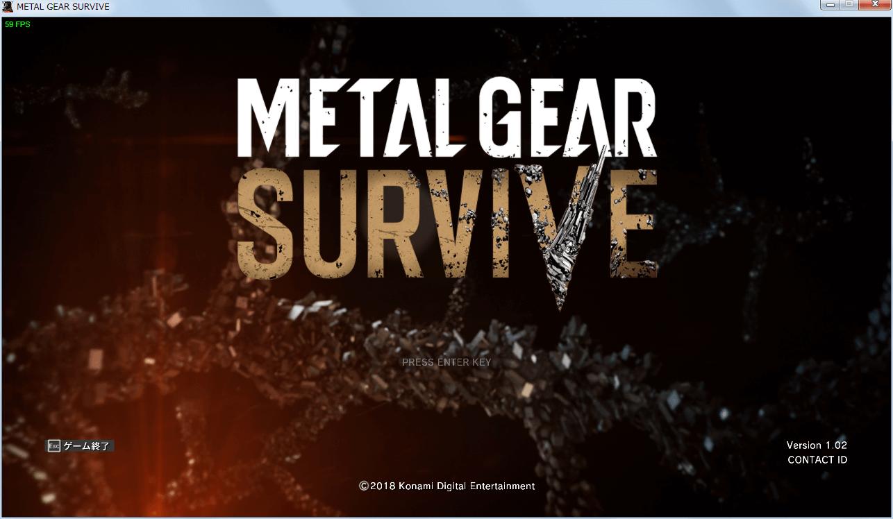 PC Steam METAL GEAR SURVIVE(メタルギア サヴァイヴ) ゲームコントローラーが認識していない状態、ゲーム内ボタンアイコンはキーボードのキー表示になる