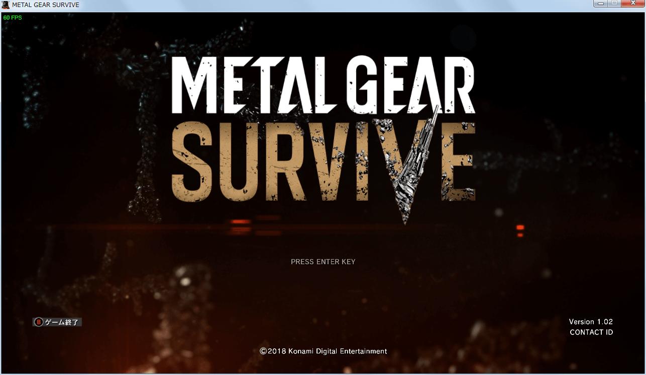 PC Steam METAL GEAR SURVIVE(メタルギア サヴァイヴ) ゲームコントローラーとして認識している状態、ゲーム内ボタンアイコンがコントローラーのボタンになる