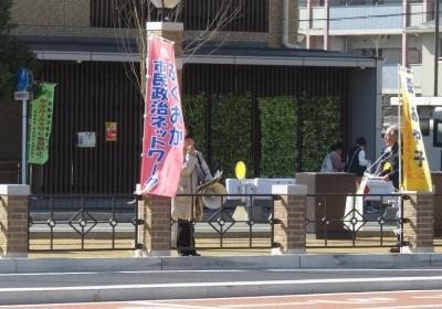 西鉄香椎駅前街宣活動
