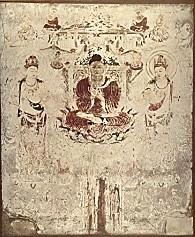 法隆寺金堂壁画6号壁阿彌陀浄土